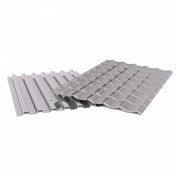 Profiled metal sheets and metal tile sheets